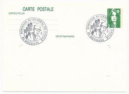 """FRANCE => CP Entier 2,10 Liberté => Oblit """"Hommage Au Général  De Gaulle - 80 DOULLENS""""  Nov 1990 - De Gaulle (General)"""