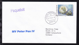 L1 Paquebot + OSt. Lübeck-Travemünde 07.11.01 + L1 MV Peter Pan IV Auf Brief - Timbres