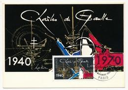 FRANCE - Carte Maximum - 1,00 Charles De Gaulle - Novembre 1990 PARIS - De Gaulle (General)