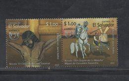 El Salvador MNH Issue Pair America Upaep 2007 Quijote Horses - El Salvador