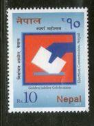Nepal 2017 Election Commission Hand Vote Ballet Paper 1v MNH # 2079 - Nepal