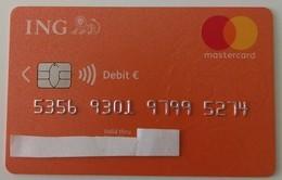 Credit Card  From Poland ING Bank Visa € - Geldkarten (Ablauf Min. 10 Jahre)