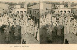 ALGERIE(BISKRA) MARCHE(CARTE STEREO) - Biskra