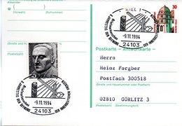 """BRD Amtliche Ganzsachen-Postkarte (Antwort) P 148A ZF WSt """"Schloß Celle""""30 (Pf) Braun/grün, SSt. -9.11.1994 KIEL 1 - Postcards - Used"""