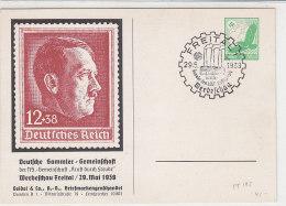 Privatganzsache PP 142 Werbeschau Freital / 29.Mai 1938 ...  Mit Passendem Sonderstempel - Ganzsachen