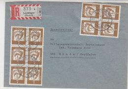 Bedarfs R-Brief Mit 348 (10) Waagerechte Paare !! Aus Leichlingen 18.6.63 - Lettres & Documents