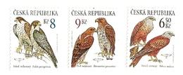 ** 372 - 4 Czech Republic Birds Of Prey Falcon - Eagle - Buzzard 2003 - Aigles & Rapaces Diurnes