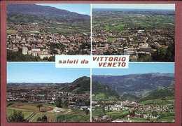 18 VITTORIO VENETO - TREVISO - PANORAMA E  CAMPO SPORTIVO - STADIO - CALCIO - Italia