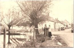 Dépt 80 - MOYENCOURT-LÈS-POIX - ÉPREUVE De CARTE POSTALE (photo R. LELONG) + PLAQUE De VERRE D'origine - MARE - Tripiez - France