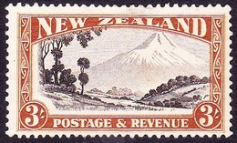 NEW ZEALAND 1936 3/- Chocolate & Yellow Brown Perf 13-14 X 13½ SG590 MH - 1907-1947 Dominion