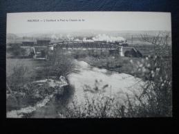 Cpa/pk 1910 MELREUX Ourthe Et Le Pont Du Chemin De Fer Train Loco - Hotton