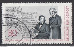 Germania 1985 Sc. 1434 Manoscritto Dei Fratelli Jacob E Wilhelm GRIMM Germany Bundespost Used - Fiabe, Racconti Popolari & Leggende