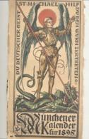 MÜNCHENER Kalender Für 1895 -  Calendrier De 16 X 32  Cm (b236) - Calendari