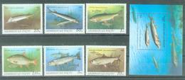 AZ 1993-98-104 FISHS, ASERBEDIAN, 1 X 6v + S/S, MNH - Aserbaidschan