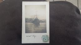 ALGER * ALGERIE - SUPERBE CARTE PHOTO NAVIRE / PAQUEBOT / MARINE MILITAIRE DEVANT ALGER 1907 - Alger