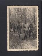 Dt. Reich Kleinformat Photo Gruppe SS Im Wald - Weltkrieg 1939-45