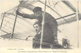 Les Aviateurs Delagrange Et Henri Farman Sur L'appareil Delagrange - Aviatori