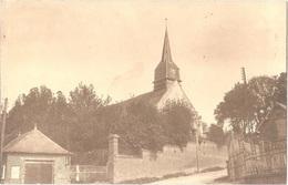 Dépt 80 - BERGICOURT - ÉPREUVE De CARTE POSTALE (photo R. LELONG) + PLAQUE De VERRE D'origine - Église - Édit. TROUILLE - France