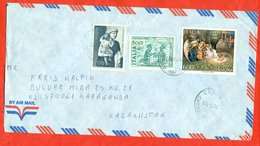 Italy 1993. Painting. Envelopes Past The Mail. Airmail. - 1946-.. Republiek
