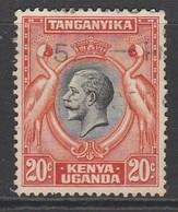 Kenya  1935 King George V And Landscapes 20 C Orange/black SW 5 O Used - Kenya, Uganda & Tanganyika