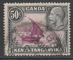 Kenya  1935 King George V And Landscapes 50 C Black/purple Red SW 7 O Used - Kenya, Uganda & Tanganyika