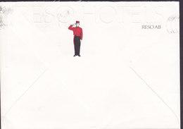 Denmark RESO HOTELS (Embossed Geprägt) Piccolo Cachet Slogan Flamme TÅSTRUP 1986 Cover Brief BALLERUP - Briefe U. Dokumente