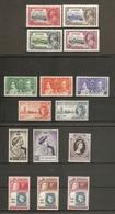 ST HELENA 1935 - 1956 COMMEMORATIVE SETS INCLUDING 1935 SILVER JUBILEE + 1948 SILVER WEDDING SETS MOUNTED MINT Cat £68+ - Saint Helena Island
