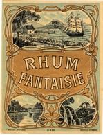 Ancienne étiquette De Rhum Fantaisie - Imprimeur Baelde - Rhum