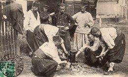 CP-  Manoeuvres Du Bourbonnais 1909-   Les Zouaves Au Cantonnement- - Manoeuvres