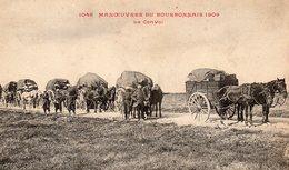 CP-  Manoeuvres Du Bourbonnais 1909-   Le Convoi- - Manoeuvres
