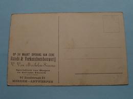 RUNDS & VERKENSBEENHOUWERIJ V. Van MECHELEN-SIMONS @ MERXEM ( Burg RHEINSTEIN ) Anno 19?? ( Zie Foto's Voor Detail ) ! - Reclame