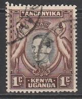 Kenya 1938 Issues Of 1935 But With Portrait Of King George VI  1 C Reddish Brown SW 22a O Used - Kenya, Uganda & Tanganyika