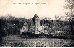 Cpa 12_MALEVILLE, Propriété Gineste, Manoir Ou Château - Autres Communes