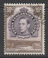 Kenya 1938 Issues Of 1935 But With Portrait Of King George VI  30 C Brown/purple SW 33 O Used - Kenya, Uganda & Tanganyika
