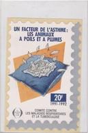 Comité Contre Les Maladies Respiratoires Et La Tuberculose, Un Facteur De L'asthme, Grande Vignette 1991-92 - Vecchi Documenti