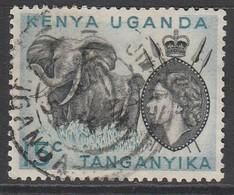 Kenya 1954 Queen Elizabeth II And Landscapes 15c Used ( No Dot Under The C ) - Kenya, Uganda & Tanganyika