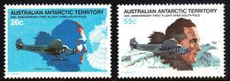 AUSTRALIA 1979 AUSTRALIAN ANTARCTIC TERRITORY AAT 50TH ANNIV FIRST FLIGHT OVER SOUTH POLE NHM PLANES ADM BYRD SG 35-36 - Australian Antarctic Territory (AAT)