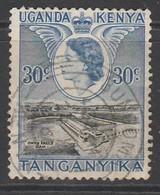 Kenya 1954 Queen Elizabeth II And Landscapes 30c Used - Kenya, Uganda & Tanganyika