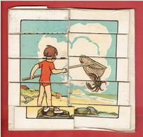 PUZZLE PEDAGOGIQUE LE CALCUL PAR L IMAGE METHODE DANIELI EDITEUR NATHAN 2 PUZZLES L ENFANT A LA MER ENFANTS AU SOLEIL - Puzzles