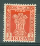 India: 1950/51   Official - Asokan Capital    SG O156     3a     MH - Official Stamps