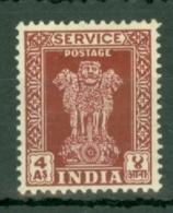 India: 1950/51   Official - Asokan Capital    SG O157     4a   Lake   MH - Official Stamps