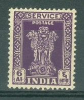 India: 1950/51   Official - Asokan Capital    SG O159     6a     MH - Official Stamps