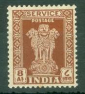 India: 1950/51   Official - Asokan Capital    SG O160     8a     MH - Official Stamps