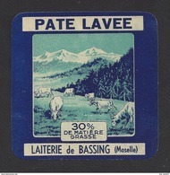 Etiquette De Fromage  -  Pâte Lavée  -  Laiterie De Bassing (57) - Fromage
