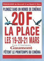 """Publicité Format CPM """"plongeon Dans Un Monde De Cinémas"""" (Gaumont - Amiens) - Natation"""