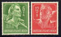 Deutsches Reich, 1944, Mi 894-895 ** RAD [260818LAII] - Allemagne