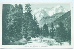 STRADA DEL PICCOLO S.BERNARDO 1933 - Italie