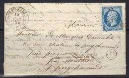 Baignes-Ste-Radegonde (Charente) : Lac Pour Le Marquis De Mallet, Boîte Rurale D = La Grolle (dans Le Texte), 1858. - 1849-1876: Période Classique