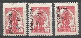 AZ 1992 DEFINITIVE, ASERBEDIAN, 1 X 3v, MNH - Aserbaidschan