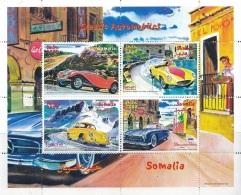 Somalie 2000 - MNH ** - Voitures - Ferrari - Porsche - MG - Mercedes - Bloc (som012) - Somalie (1960-...)